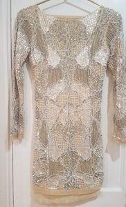 Topshop Beaded Mini Gigi Dress